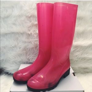 Shoes - Pink rain boots, size 7